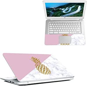 """MightySkins Skin Compatible with HP Chromebook 14"""" (2018) - Pretty Pineapple   Protective, Durable, and Unique Vinyl Decal wrap Cover   Easy to Apply, Remove, and Change Styles   Made in The USA"""