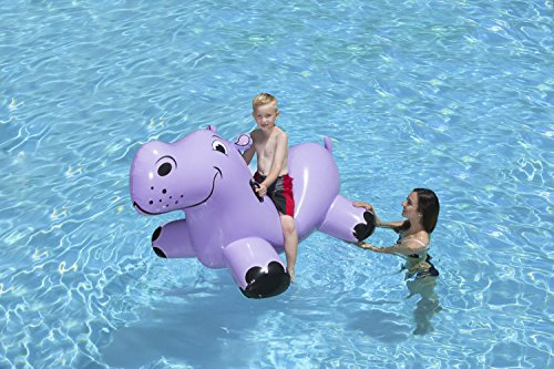 51WiZM5pL4L - Poolmaster Happy Hippo Swimming Pool Float Rider