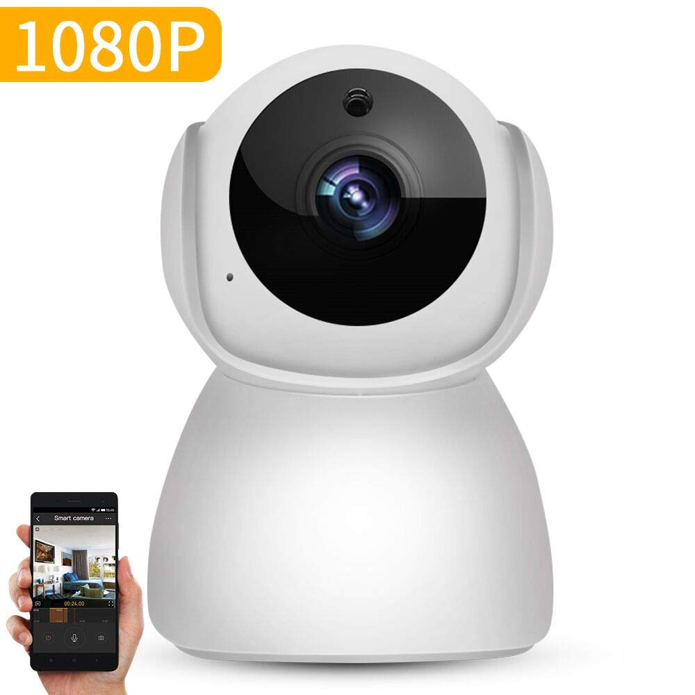 1080P IP Wireless Wifi Camera with PTZ/2-Way Audio/Night Vision, ABAI Home Surveillance Security monitor for Baby/Pet