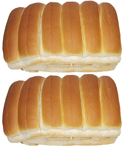 New England Split-top Frankfurter Hot Dog Bun or Lobster Rolls - Pack of 6, 12 or 24 count