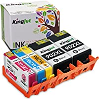 Kingjet Re-Manufactured Ink Cartridge Replacement for 902XL Work with OfficeJet Pro 6954 6960 6962 6968 6975 6978 Printers,1Set+1BK (2Black 1Cyan 1Magenta 1Yellow)