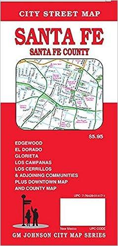 Santa Fe Santa Fe County New Mexico Street Map Gm Johnson