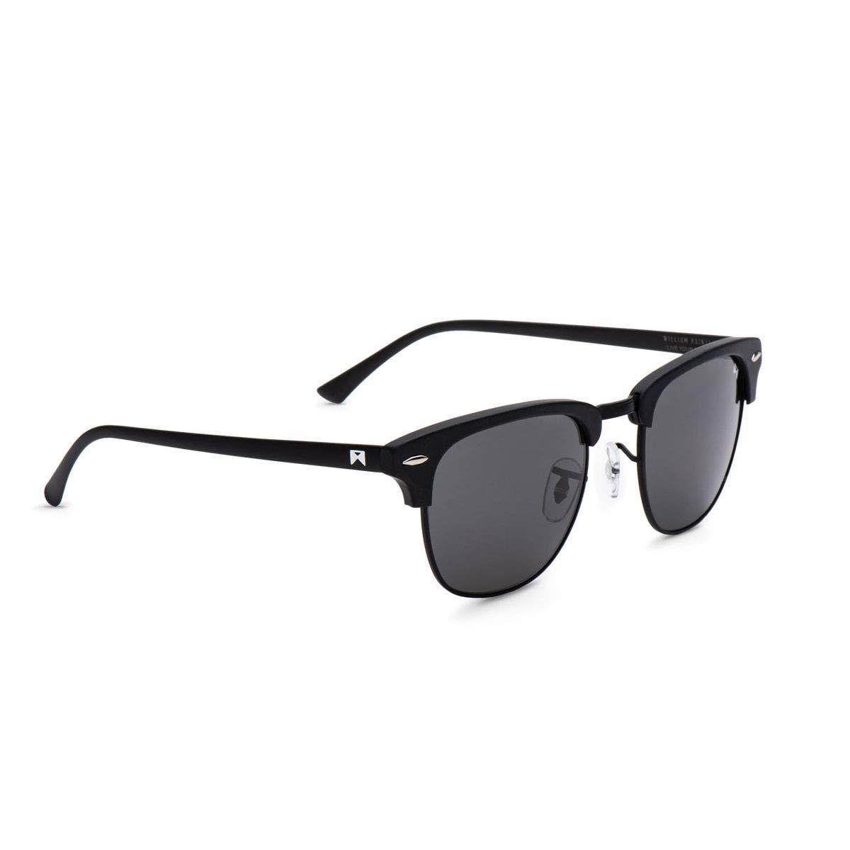 67c001d737 Amazon.com  William Painter- The Empire Polarized  Signature  Sunglasses  (Black   Black)  Clothing