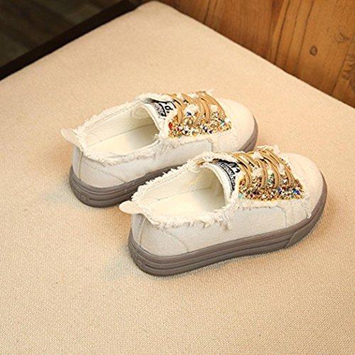 MuSheng Outdoor Laufschuhe Kinder Hausschuhe Weiß Kinder für Mädchen Gelb
