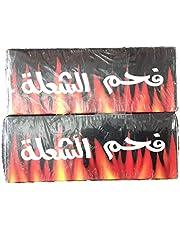 فحم الشعلة سريع الاشتعال عديم الدخان والرائحة 2 باكيت يحتوي على عدد 120 حبة