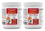Women Skin Hair and Nails - Women's Daily Complex - Super Pack - Echinacea Extract Capsules - 2 Cans 60 Packs (420 Pills)