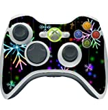 Neon Snowflakes Snowflake Xbox 360 Wireless Controller Vinyl Decal Sticker Skin by Moonlight Printing