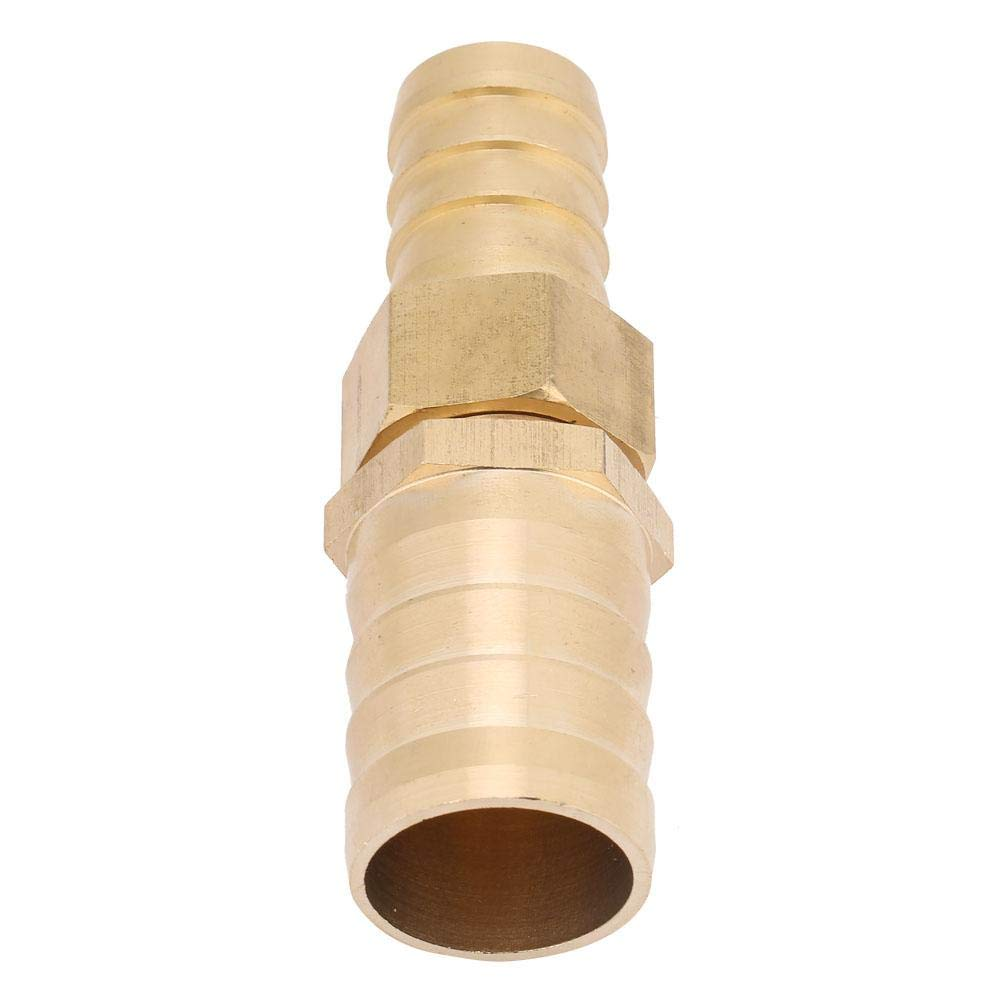 Brass Barb Reducer Tube Splicer Joiner Pipe Compression Hose Tube Fitting Connector Adapter Straight Pipe Fitting Joint Components 19-25mm
