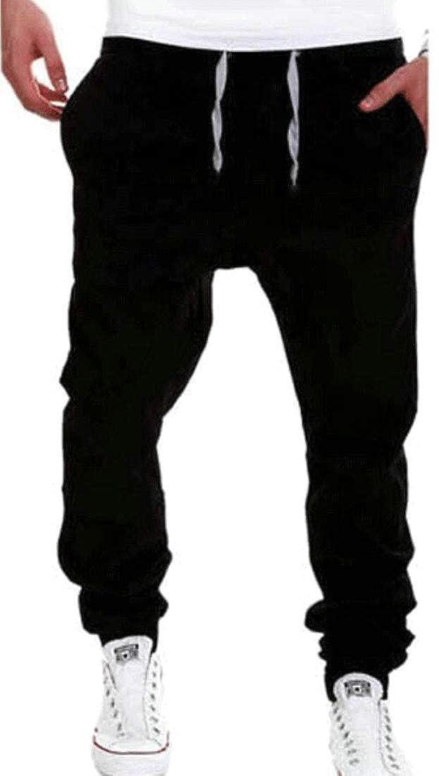 omniscient Mens Casual Soft Drawstring Jogging Pants Sweatpants