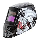 Antra AH6-260-6320 Solar Power Auto Darkening Welding Helmet with AntFi X60-2 Wide Shade Range 4/5-9/9-13 with Grinding Feature Extra Lens Covers Good for Arc Tig Mig Plasma