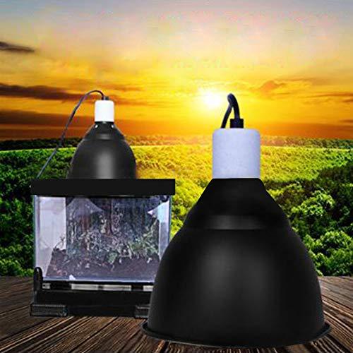 QuTess 5.5 Inch Deep Dome Lamp Cap Lamp Fixture 300W Ceramic Heat UVA/UVB Lampshade Optical Reflection Cover for Reptile Glass Terrariums E27