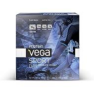 Vega Sport Protein Bar, Chocolate Coconut, 2.14oz Bar, 12 Count