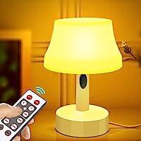 Lookdol ベッドサイドランプ 調光調色 リモコン付き テーブルライト USB給電式/乾電池給電 白色/暖色 卓上スタンドライト LEDナイトライト インテリア 常夜灯 連続照明 目に優しい 授乳灯 省エネ 枕元 寝室用ルームライト プレゼント 停電緊急対応用品
