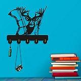 Deer Hunter Household Decor Wall Hooks Animals Multi-Purpose Wall Coat Keys Bags Clothes Hook Hanger Shot Gun Bow Wall Bathroom Decor
