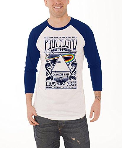 Pink Floyd T Shirt Mens Carnegie Hall Tour 1972 Poster Official Baseball Shirt