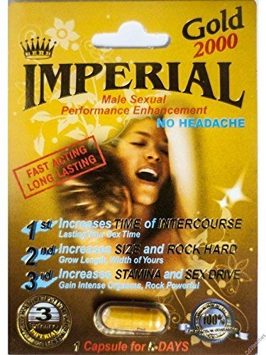 - 6 X Imperial 2000mg GOLD Male Sexual Performance Enhancement Pill