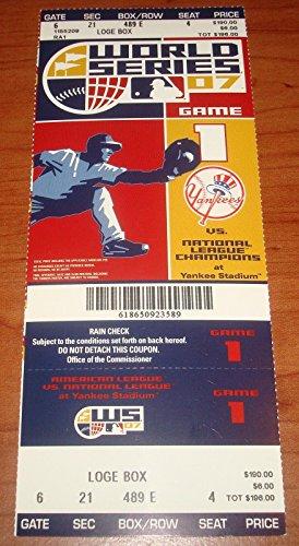 Yankee Game Ticket (2007 WORLD SERIES ROCKIES-YANKEES STADIUM GAME 1 PHANTOM UNUSED FULL TICKET)