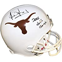 $213 » Vince Young Autographed Signed Texas Longhorns White Riddell Replica Full Size Helmet 05 Natl Champs- Certified Authentic