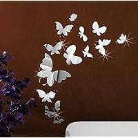 Extsud® Adesivo Murales Carta da Parete Farfalle, Wall Stickers a Specchio, Decorazione da Muro per Casa Hotel Salotto Camera da Letto Camerette da Bambini