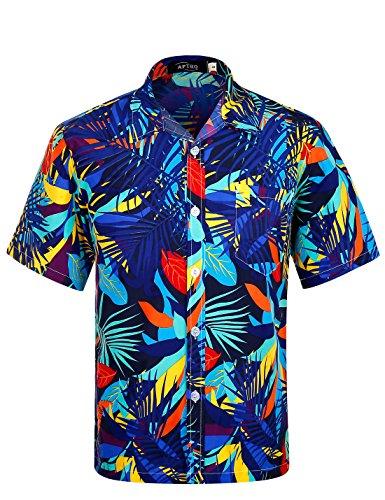 APTRO Hawaiian Floral Sleeve Shirts product image