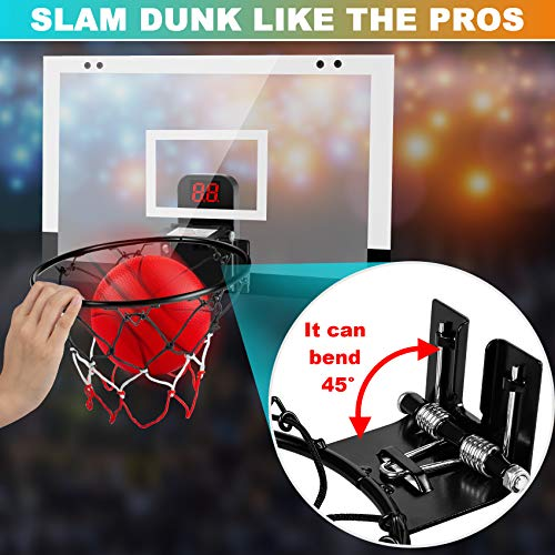 TREYWELL Indoor Basketball Hoop for Kids and Adults Door Room Basketball Hoop Mini Hoop with Electronic Scoreboard, 3…