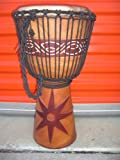 HOLIDAY SALE ~ 24'' X 14'' Djembe Deep Carved Hand Drum Bongo - Model # 60m6