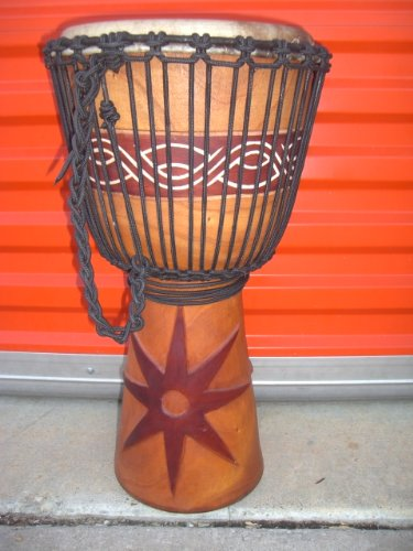 HOLIDAY SALE ~ 24'' X 14'' Djembe Deep Carved Hand Drum Bongo - Model # 60m6 by madedrums