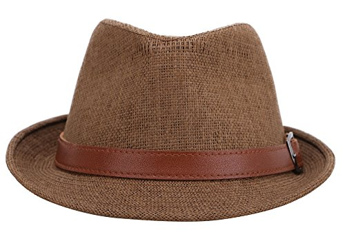 Buy fedora brown leather
