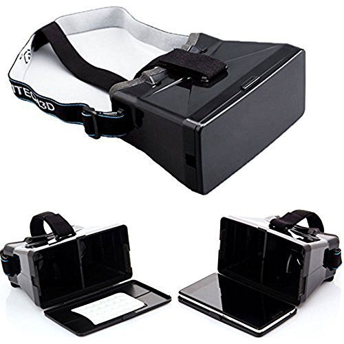 Genled 2016 Newest DIY 3d Video Glasses Virtual Reality 3D Video Glasses for 4.0-5.6inch Smartphone iPhone Samsung HTC,Black
