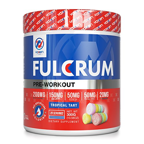 Vaxxen Labs Fulcrum Preworkout – 300g, 20 serving with Dynamine for FOCUS, ElevATP for ENDURANCE, Teacrine for ENERGY, Infinergy for POWER & Capsorb for ABSORPTION of 19 fully dosed ingredients