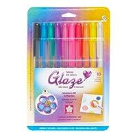 Pluma de glaseado Sakura Gelly Roll, colores surtidos, paquete de 10