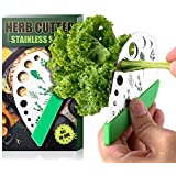 Herb Stripper 9 Holes Stainless Steel Multi-Function Kitchen Tool Leaf Puller for Kale Chard Collard Greens Thyme Basil…