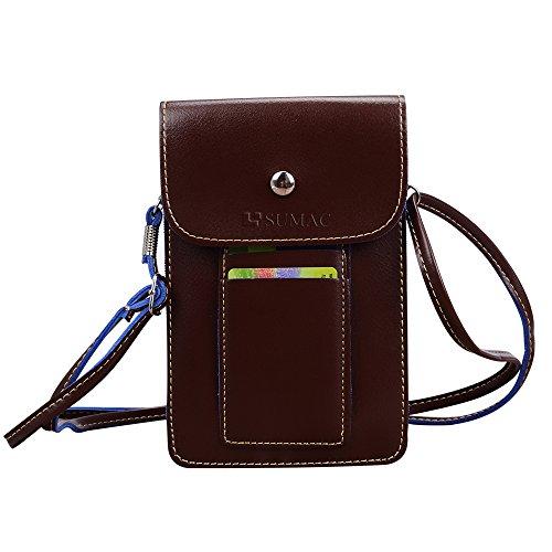 Multifunctional Leather Wallet Carrying case Shoulder