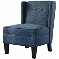 Scott Living Accent Chair in Multi-Tonal Blue Woven Fabric Upholstery