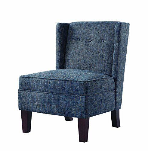 (Scott Living Accent Chair in Multi-Tonal Blue Woven Fabric Upholstery)