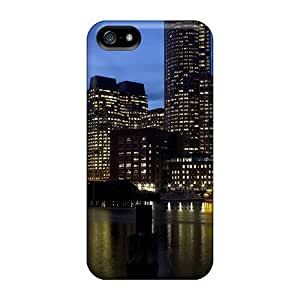 Fashion Tpu Case For Iphone 5/5s- City River At Dusk Defender Case Cover
