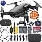 DJI Mavic Air Fly More Combo (Onyx Black) + 32GB Memory + K&M Starter Bundle