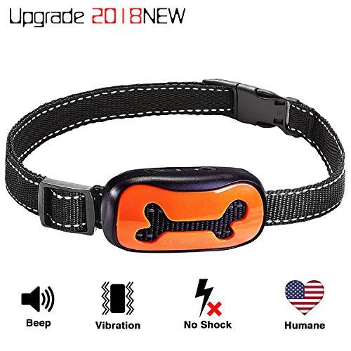 (QKTFNOMES Dog Bark Collar, New Version Humanely Stops Barking, Vibration No Shock Collar, Stop Barking Collar for Small Medium Large)