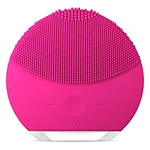 FOREO LUNA mini 2 Facial Cleansing Brush and Anti-aging Skin Care device made with Soft Silicone for Every Skin Type Fuchsia