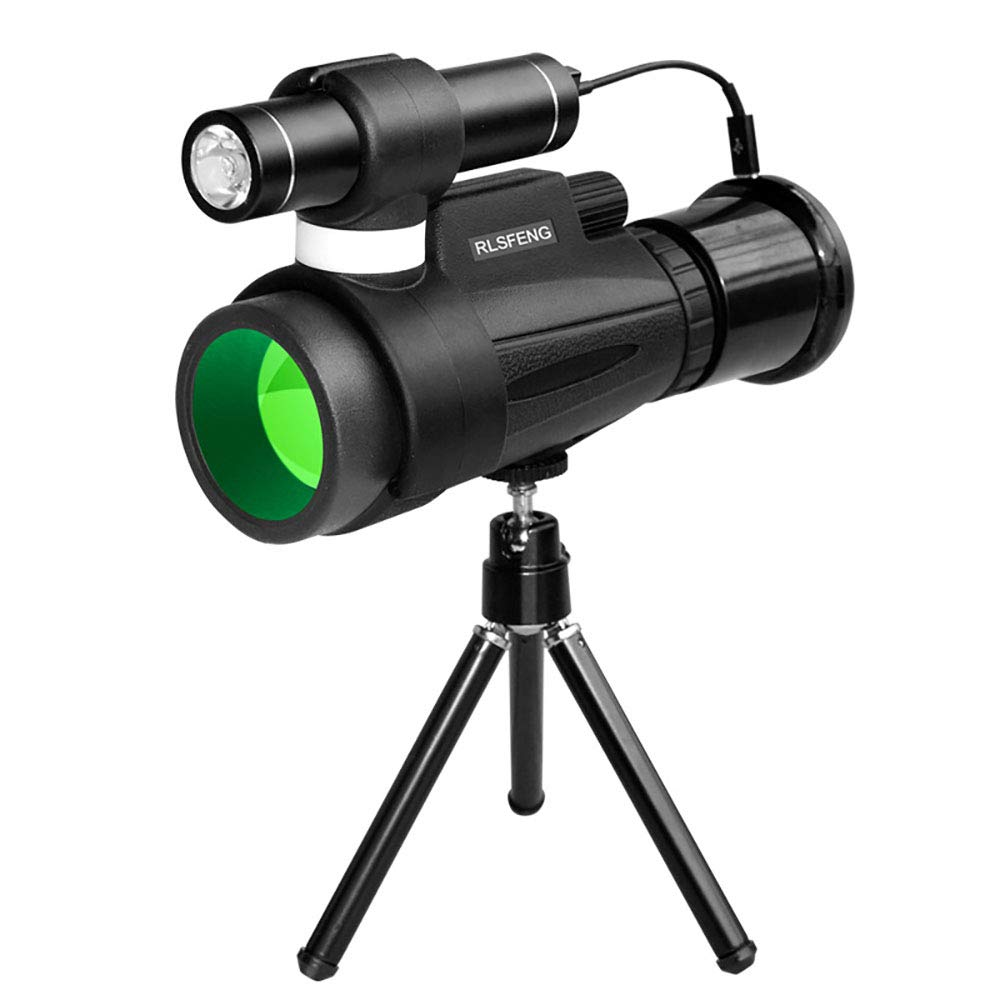 L&ZZ 12x50 High Definition Monocular Telescope and Quick Smartphone Holder - 2019 New Waterproof Monocular -BAK4 Prism for Wildlife Bird Watching Hunting Camping Travelling Wildlife by L&ZZ