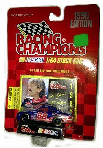 Racing Champions 1996 Edition #88 Dale Jarrett FORD Stock Car Quality Care | 1/64 scale diecast with collectors (Racing Champions Stock Car)