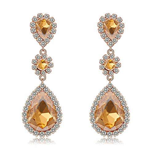 Paxuan Champagne Rhinestone Teardrop Hypoallergenic product image