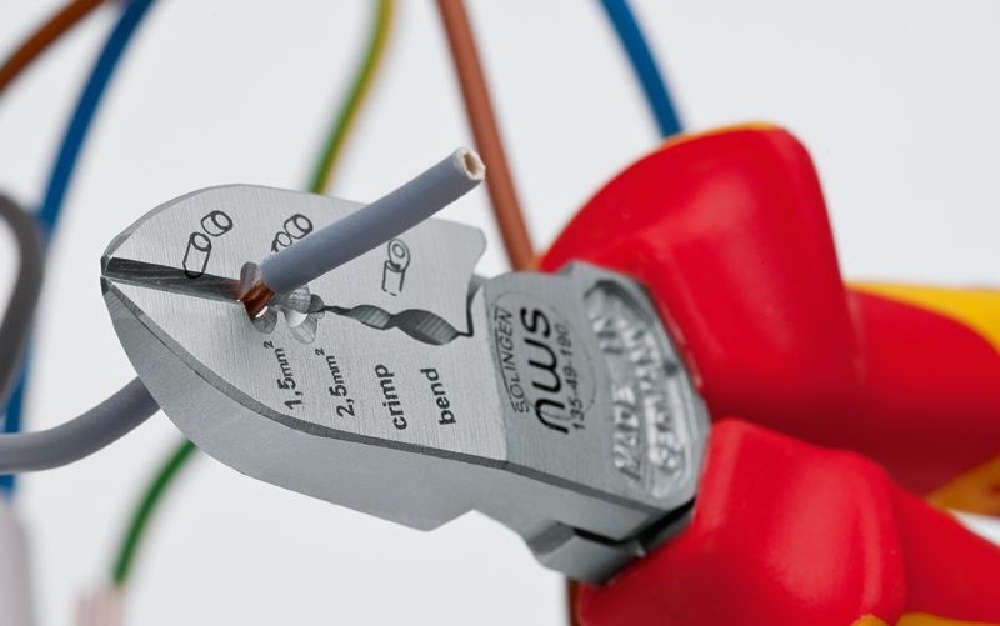 Nws 135 49vde Pince d/'/électricien /à coupe diagonale 190/mm