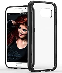 Samsung Galaxy S6 Case, VENA [RETAIN] Slim Hybrid Case with ShockProof TPU Cornerguard Bumper and Clear Scratch Resistant Hard Cover for Samsung Galaxy S6 (Black)