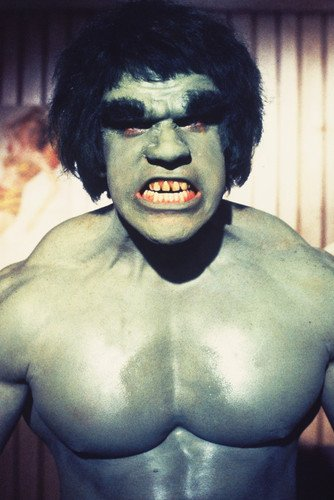 Lou Ferrigno As The Incredible Hulk In Getting Angry 24X36 Poster Snarling