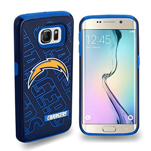 Forever Collectibles Samsung Galaxy S6 Edge Licensed NFL Dual Hybrid Case San Diego Chargers - 2 Piece ()