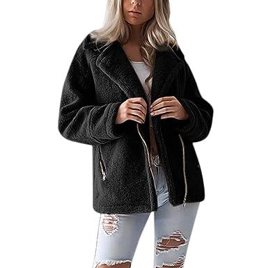 ee275bb43d2 Lazzboy Jacket Coat Women Teddy Fluffy Faux Fur Ladies Winter Biker Style  Outerwear UK 8-18 Plus Size Oversized  Amazon.co.uk  Clothing