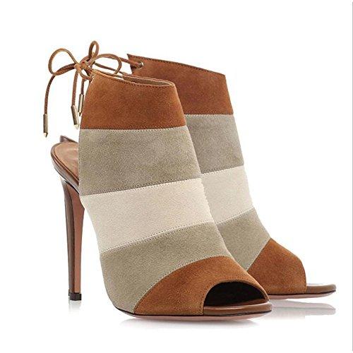 Mujer De Sencillos 2018 Sandalias Colores Verano 2 Tamaño color Shinik Aguja Caramelo 46 Mezclados Tacones Zapatos BaHnwt4XWx