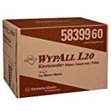 WypAll L20 Limited Use Wipers (58399), BRAG Box, Natural (Color), 2-Ply, 1 Box of 176 Wipes