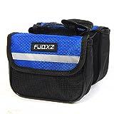 fjqxz Bike Bag Bicycle Mobile Cell Phone Bag Case Top Tube Bag Handlebar Saddle Bag with Touch Screen Phone Case